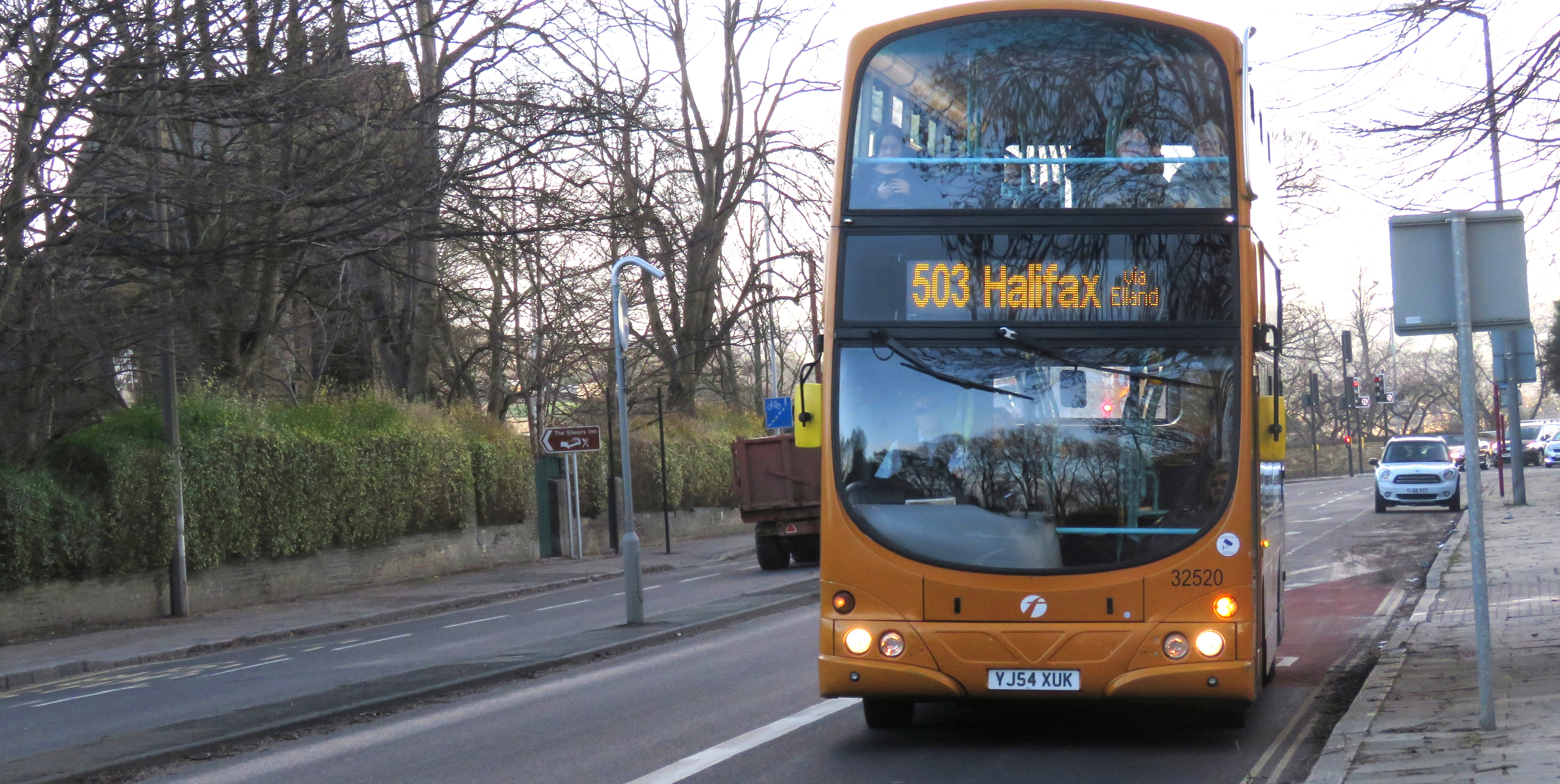Bus on the A629