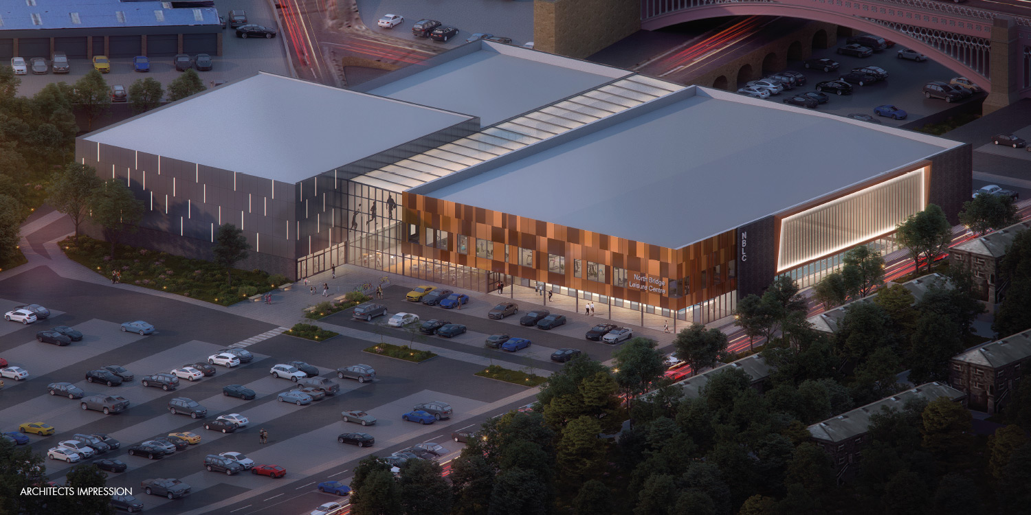 Proposed Halifax Leisure Centre outside visual