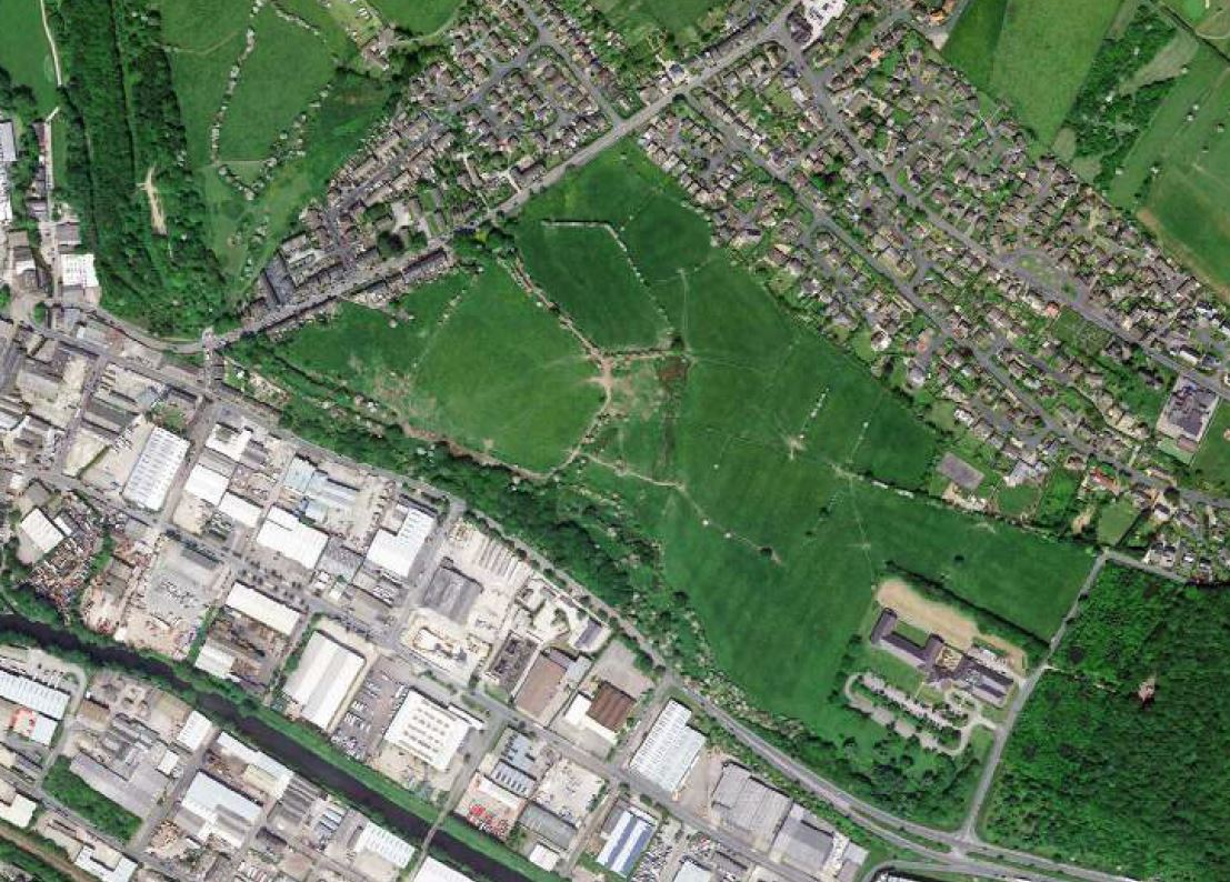 Ariel pic of proposed site for Clifton Business Park