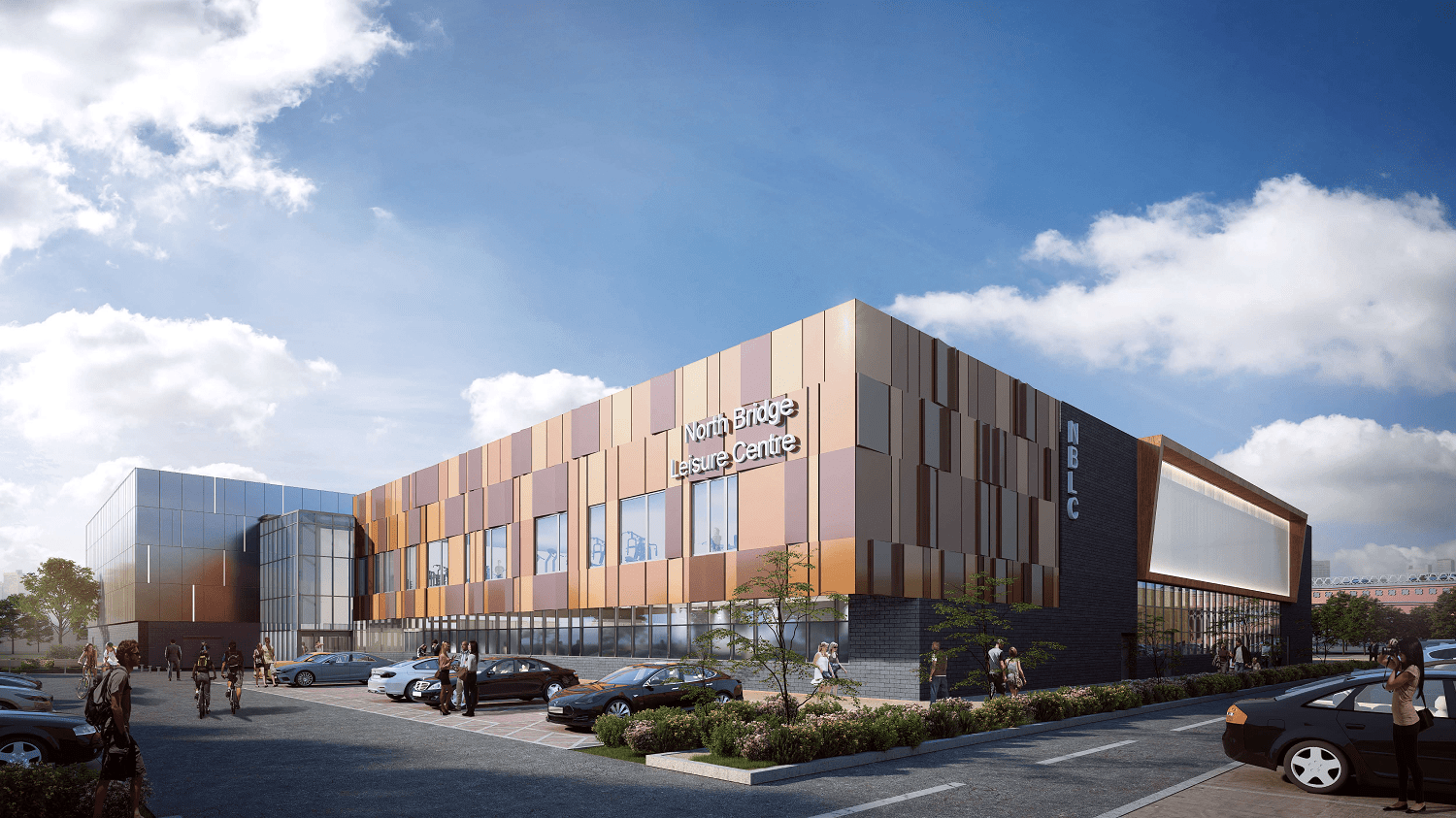 View of exterior of proposed Halifax Leisure Centre